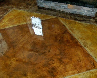 Epoxy.com Product #15 Clear Floor Top Coating as a sealer on acid stained concrete